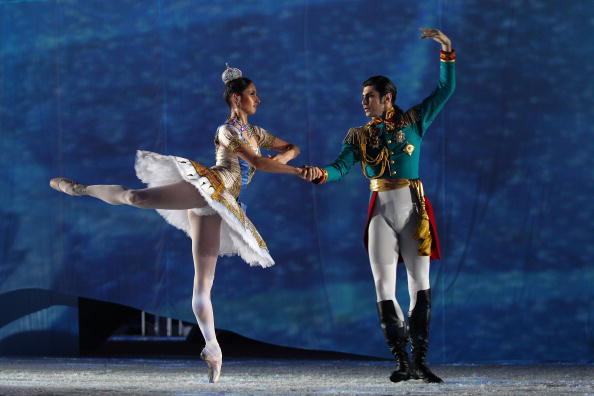 A magical ballet against a backdrop of the sea by moonlight was performed in Vancouver to herald the handover to Sochi ©Getty Images