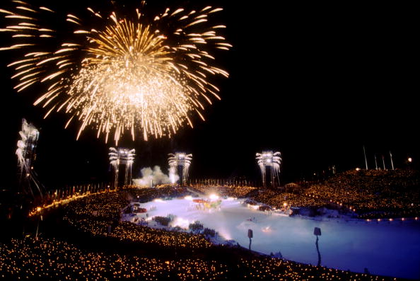 "The magical Games of Lillehammer 1994 - during its Closing Ceremony, spectators were given a special flashlight bearing the words ""Remember Sarajevo"" ©Getty Images"