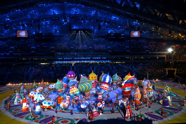 Inflatables, lots and lots of inflatables at the Opening Ceremony ©Getty Images