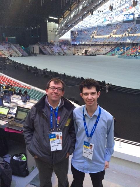 insidethegames team in the Olympic Stadium ©ITG