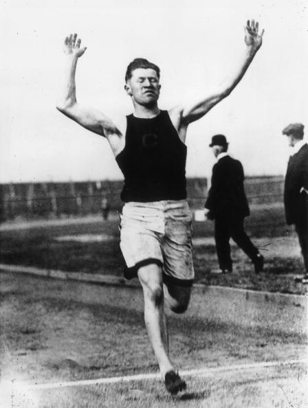 Jim Thorpe competing at the 1912 Olympic trials in New York ©Getty Images