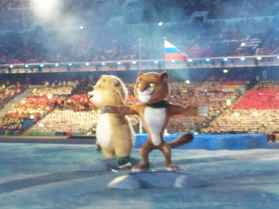 The mascots arrive in the stadium ©ITG