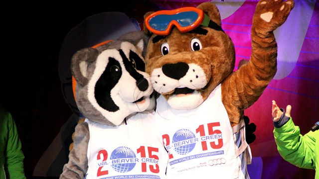 Pete the mountain lion And Earl the raccoon have been revealed as the 2015 Alpine World Ski Championships mascots ©FIS