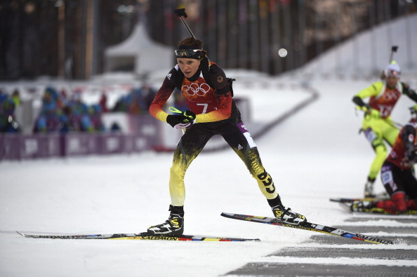 German biathlete Evi Sachenbacher-Stehle is reportedly at the centre of a doping probe at Sochi 2014 ©AFP/Getty Images