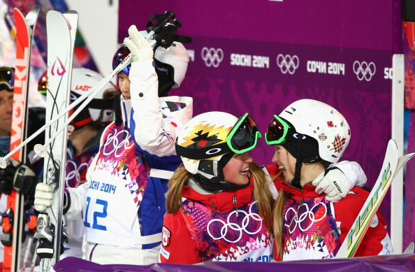 A sibling triumph for Justine and Chloe Dufour-Lapointe as they secure a moguls one-two ©Getty Images