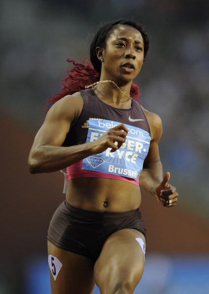 Shelly-Ann Fraser-Pryce, the Olympic and world 100m champion, will run in Glasgow and Sopot this year @ AFP / Getty Images