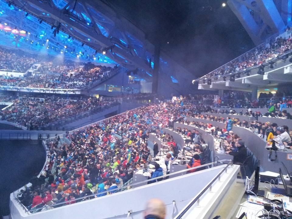 Atmosphere building inside the Fisht Olympic Stadium ©ITG