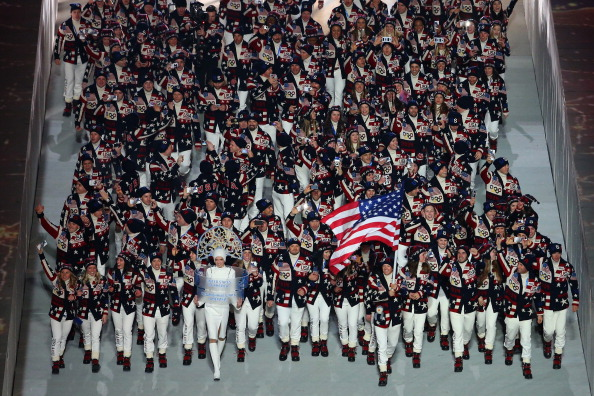 Team USA arrive in the Stadium ©Getty Images