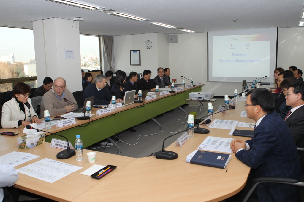 The visit was a first for FISU members since phase three of preparations, which saw the expansion and relocation of the Gwangju 2015 Organising Committee ©Gwangju 2015
