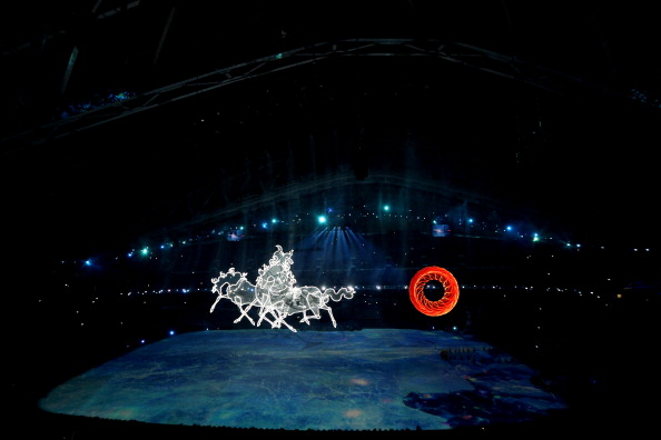 A troika pulls the sun through the air during the Opening Ceremony ©Getty Images
