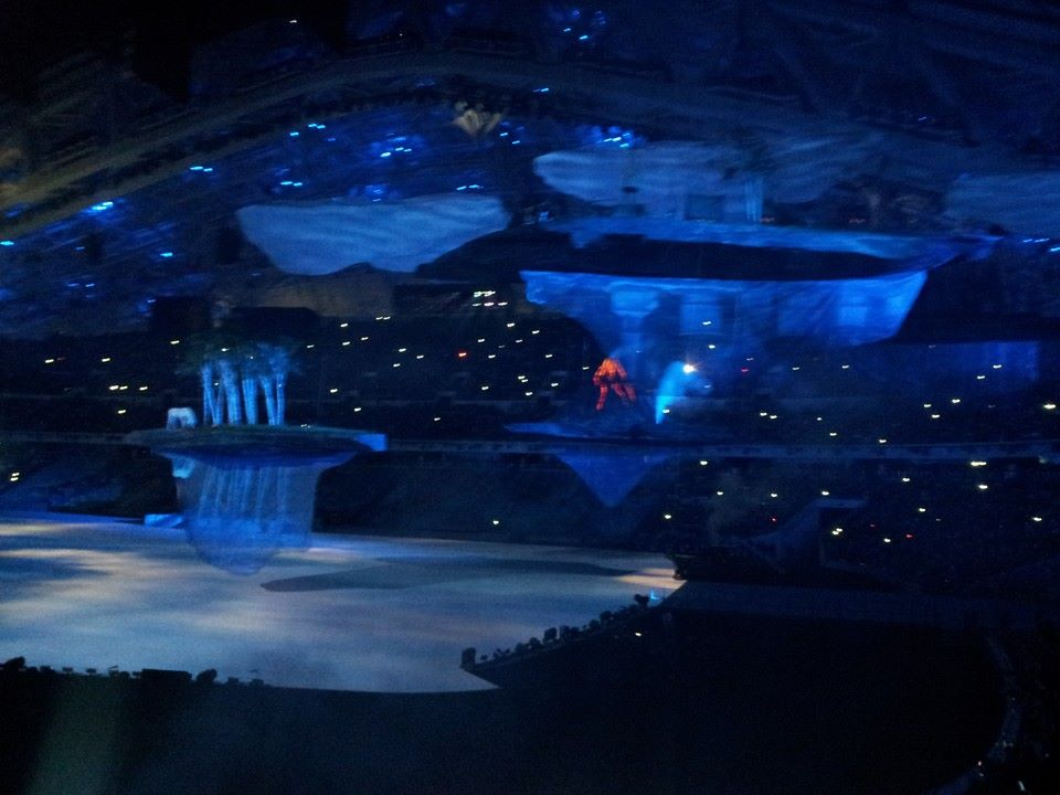 A Russian Village being floated into the Stadium ©ITG