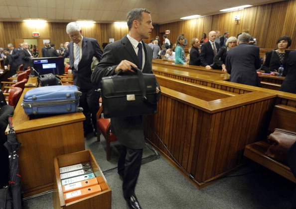 A neighbour claimed to hear sounds of an argument followed by shots being fired on the second day of the Oscar Pistorius trial ©AFP/Getty Images