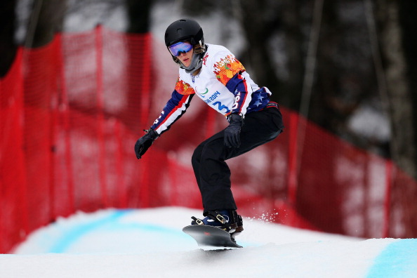 Amy Purdy of the US has produced two strong runs in the snowboard cross ©Getty Images