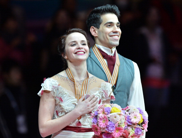Anna Cappellini and Luca Lanotte won the ice dancing gold ©Getty Images