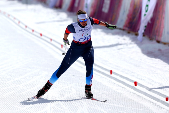 Anna Milenina wins gold number 29 for Russia in the women's 5km cross country standing ©Getty Images