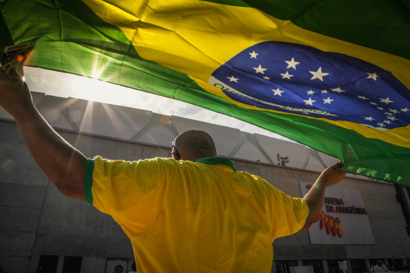 Brazilian football fans have been quick to snap up tickets released today ©AFP/Getty Images