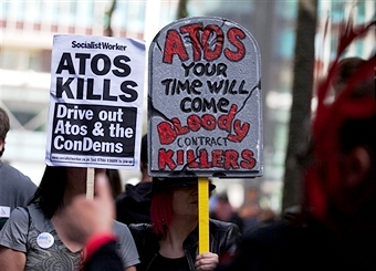 "Campaigner Sean Clerkin has called on Glasgow 2014 to drop Atos as a sponsor describing them as ""contract killers"" ©AFP/Getty Images"