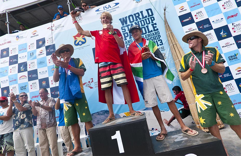 Casper Steinfath secured gold in the Technical Race at the 2013 ISA World Championships in Lima, Peru ©ISA