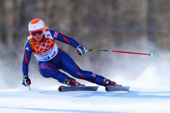 Chemmy Alcott in downhill action during the Winter Olympic Games in Sochi last month ©Getty Images