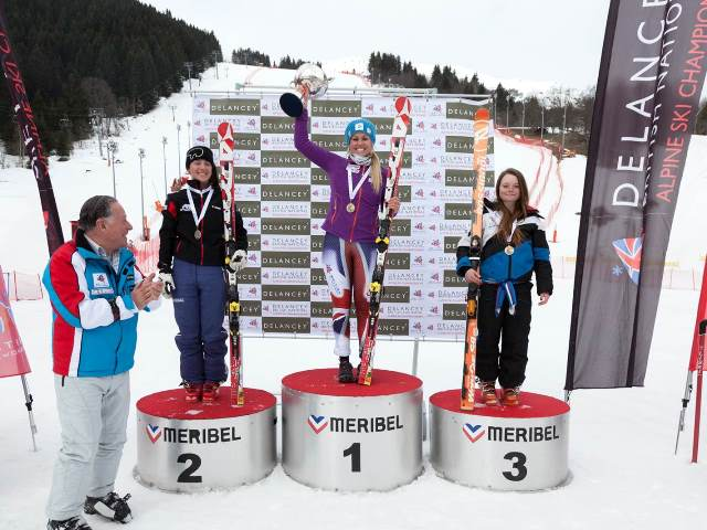 Chemmy Alcott crowning her career in perfect style by winning the Super G at the British National Championships ©BSS