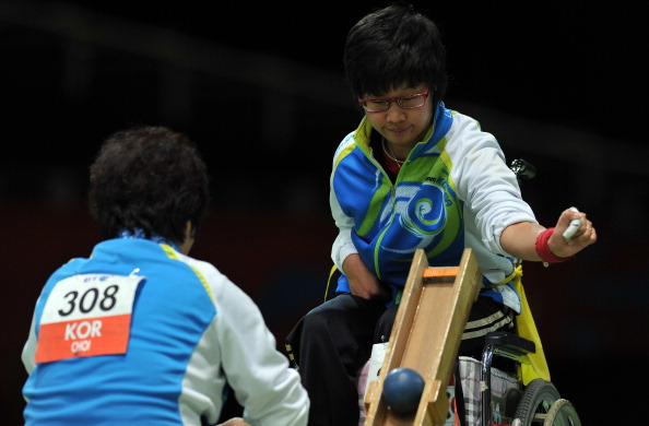 Boccia coach Kim Jin-han was also accused of abusing athletes during the London 2012 Paralympics ©AFP/Getty Images