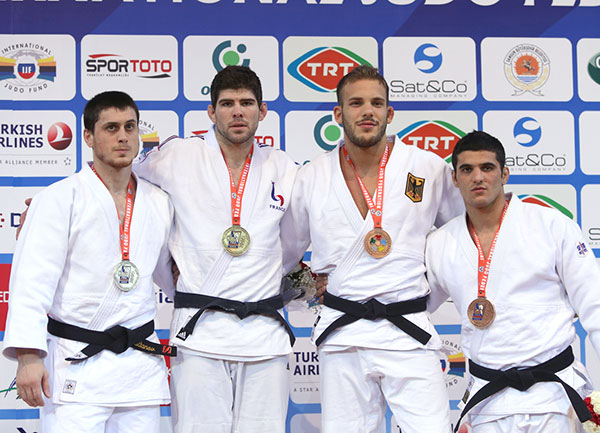 Cyrille Maret is the man to beat in the men's under 100kg category as he strode to victory at the Samsun Judo Grand Prix ©IJF