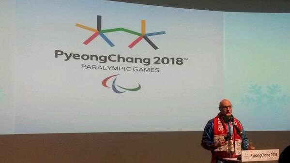 Dmitry Chernyshenko speaking at an event to mark four years until Pyeongchang 2018 ©Twitter