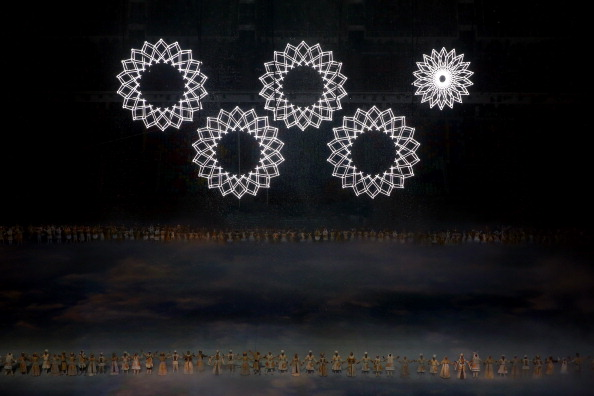During the Opening Ceremony of the Sochi Winter Games, one of the five snowflakes failed to transform into a ring to symbolise the Olympic logo ©Getty Images