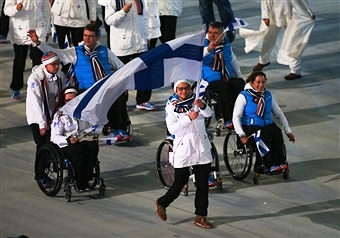 Finland's Sochi 2014 Opening Ceremony flagbearer Katja Saarinen is one of three athletes elected to the IPC Athletes' Council ©Getty Images
