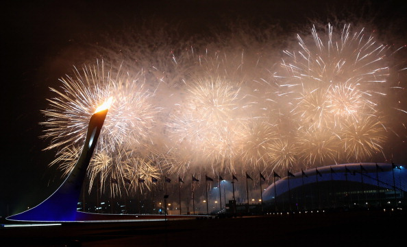 Fireworks celebrate the lighting of the Paralympic Cauldron ©Getty Images