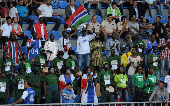 Gambian football fans supporting the under 17 women's national team at the FIFA World Cup in 2012 ©Getty Images