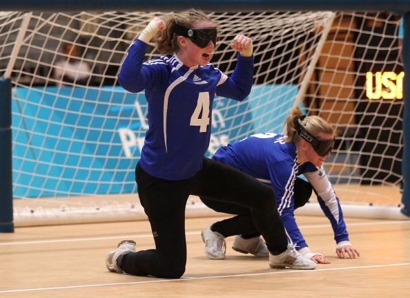 "Georgie Bullen (left) has said that UK Sports decision is ""too soon"" following major changes to the set up of the GB goalball team ©Getty images"