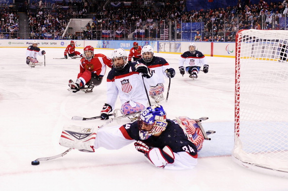 Goaltender Steve Cash makes a save ahead of his team taking the lead ©Getty Images