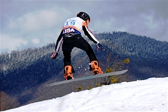 Gold medal winning snowboarder Evan Strong has been shortlisted for US male Paralympian of Sochi 2014 ©AFP/Getty Images