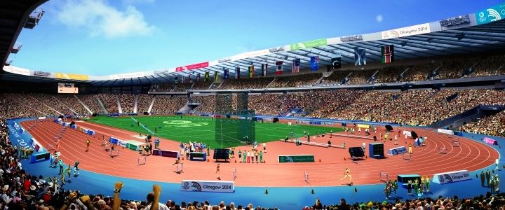 """Hampden Park is being transformed to an athletics venue using what is being dubbed the """"Glasgow solution"""" ©Glasgow 2014"""