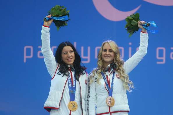 Henrieta Farkasova (left) and guide Natalia Subrtovae already have a gold medal from these Games ©Getty Images