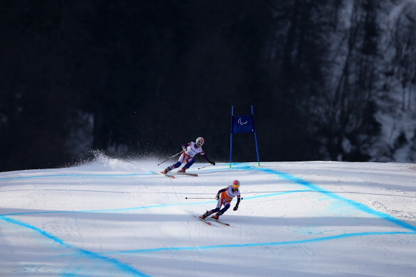 Henrieta Farksova takes the first gold medal of Sochi 2014 ©Getty Images