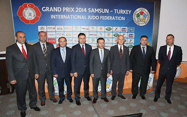 IJF and Turkish officials gather for a press conference ahead of the Samsun Grand Prix ©IJF