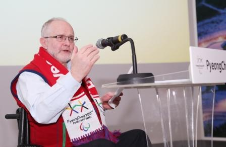 IPC President Sir Philip Craven was another speaker at the event ©Pyeongchang 2018