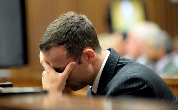 It was a distressing day in court today for Oscar Pistorius as the trial entered its second week ©AFP/Getty Images