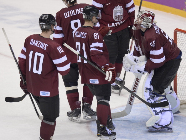 Latvia face disqualification from Sochi 2014 if a second player is found to have failed a drugs test ©AFP/Getty Images