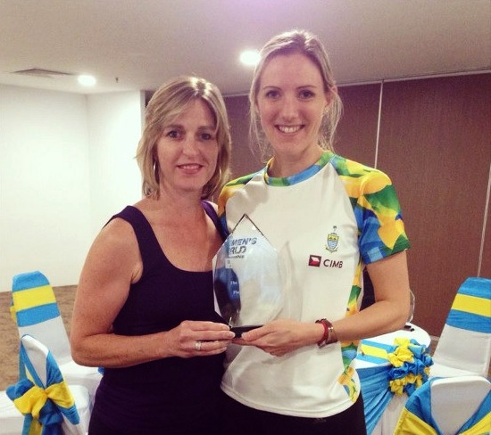 Laura Massaro has won the WSA Heather McKay Player of the Year 2013 award ©WSA