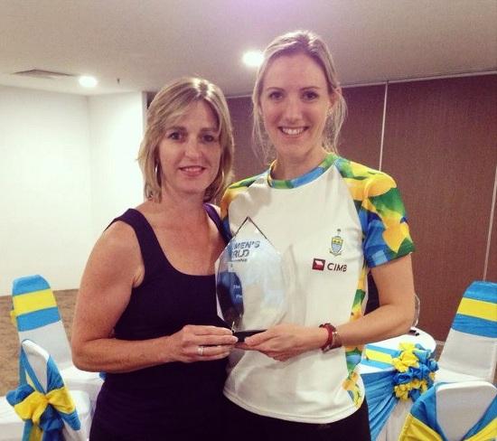 Laura Massaro has won the WSA Heather McKay Player of the Year 2013 award ©WSA