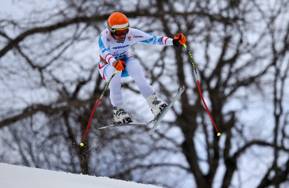 Austria's former World Cup skier Matthias Lanzinger completed a remarkable comeback when he won a silver medal in the super-G standing event ©Getty Images