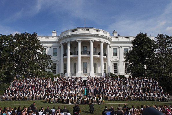 Members of the Olympic and Paralympic teams being welcomed to the White House following London 2012 ©Getty Images