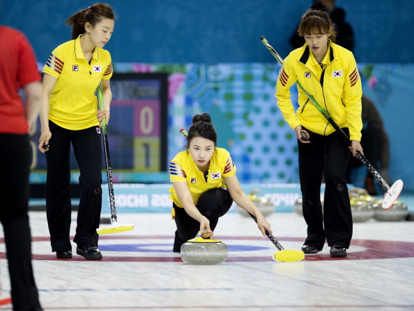 Min Ji Um in action for the South Korean team during the Olympic Games ©Sports Illustrated/Getty Images