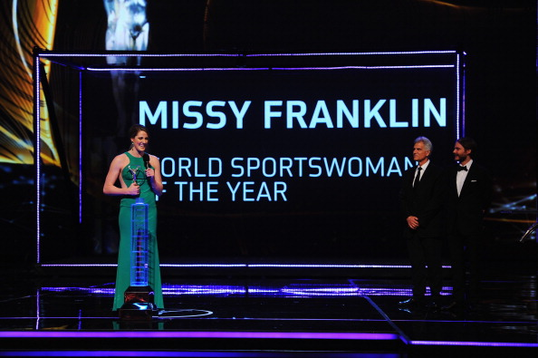 Missy Franklin was named the youngest ever winner of the female award ©Getty Images