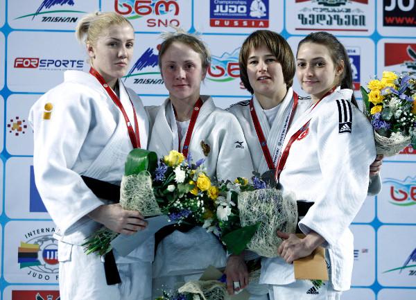 Nataliya Kondratyeva got Russia's medal haul underway with victory in the women's under 48kg category ©IJF