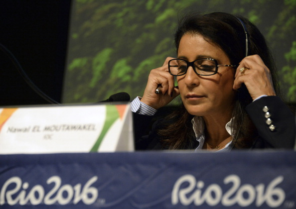 Nawal El Moutawakel last led the International Olympic Committee Coordination Commission to Rio in September ©AFP/Getty Images