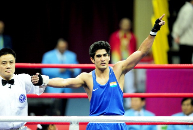 Olympic bronze medal winner Vijender Singh has backed the proposal to form a new Indian Boxing Federation led by P K Muralidharan Raja ©AFP/Getty Images